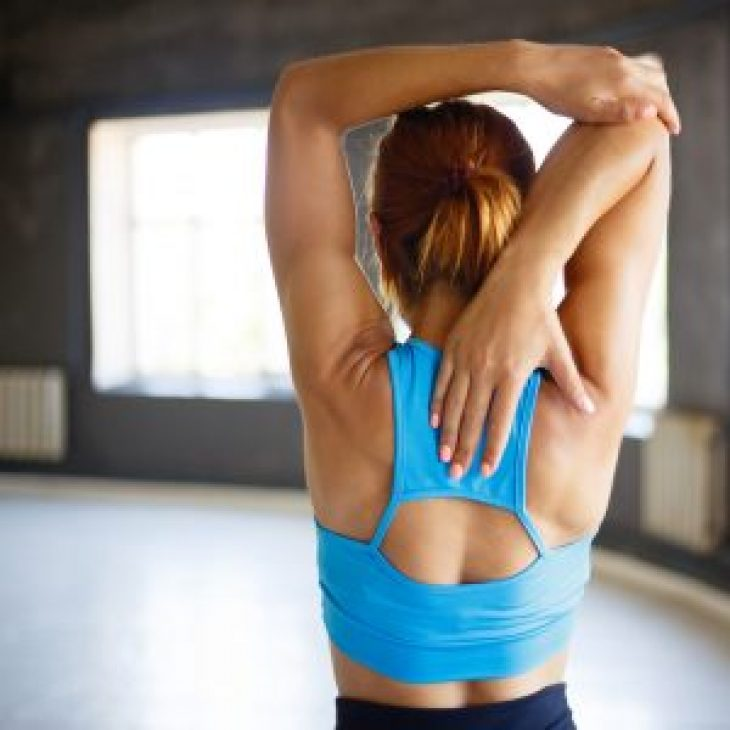 LB – spine-woman stretching from back